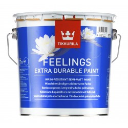 Боя Tikkurila FEELINGS EXTRA DURABLE PAIN Бяла 2.7 л