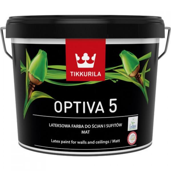 Боя TIKKURILA  OPTIVA 5 ECO BA 9L -латекс