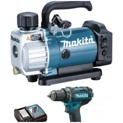 Акумулаторна вакуум помпа за климатици Makita DVP180Z + Акумулаторен винтоверт DDF482RFE3